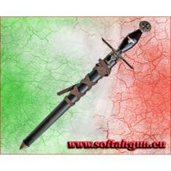 Daga Nazista Afrika Korps pugnale in metallo 58 cm