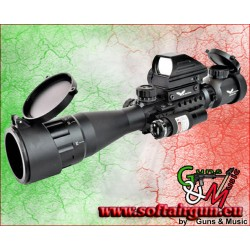 JS-TACTICAL COMBO OTTICA 3x-9x LENTE 40mm CON RED DOT E...