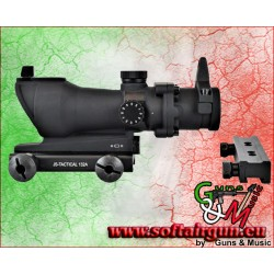 JS-TACTICAL RED DOT LENTE 32mm CON ATTACCHI 20mm E 11mm...