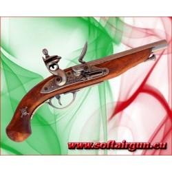 Pistola da pirata francese del XVIII sec in metallo legno...