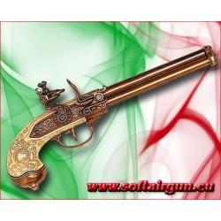 Pistola 3 canne Italiana Lorenzoni del 1680 Denix 29 cm...
