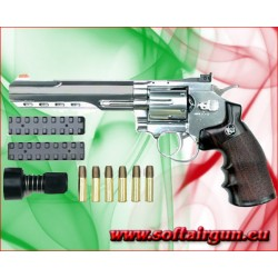 """WIN GUN REVOLVER A CO2 6"""" ARGENTO (C 702S)"""