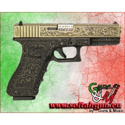 WE PISTOLA A GAS G17 CLASSIC FLOREAL PATTERN BRONZE (WG01FB)