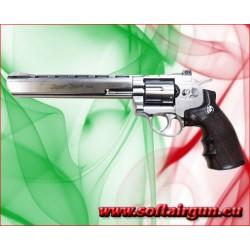 """WIN GUN REVOLVER A CO2 8"""" ARGENTO (C 703S)"""