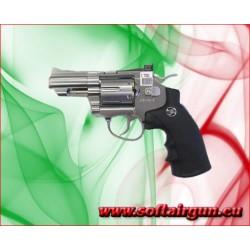 """WIN GUN REVOLVER A CO2 2,5"""" ARGENTO (C 708S)"""