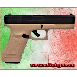 Glock PISTOLA A SALVE GAP CALIBRO 9mm NERA/TAN BRUNI GUNS (BR-1401BT)