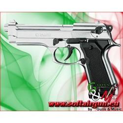 PISTOLA CALIBRO 9mm A SALVE 92  NIKEL BRUNI (BR-1305N)