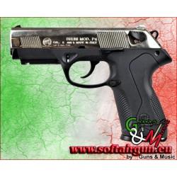 PISTOLA CALIBRO 8mm A SALVE P4 NIKEL BRUNI (BR-2600N)
