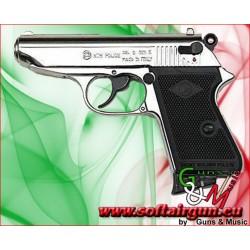 BRUNI PISTOLA NEW POLICE CALIBRO 8mm A SALVE NIKEL...