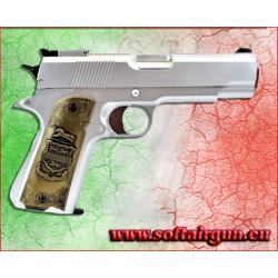 HFC PISTOLA Mod.1911 A GAS ARGENTO Carrello fisso (HG 123S)