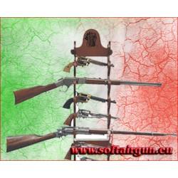Espositore in legno rastrelliera x fucili e pistole 12 pezzi