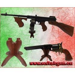 Espositore supporto in legno per fucile, pistola,...