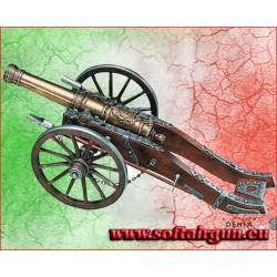 CANNONE 75CM FRANCESE truppe Luigi XIV ROLEGUN