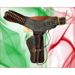 Cinturone in cuoio per revolver stile Cowboy western