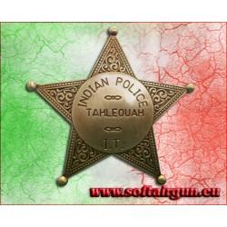 Stella da sceriffo distintivo Indian Police Tahleouah...