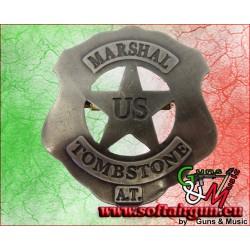Distintivo con stella da sceriffo badge US Marshal...