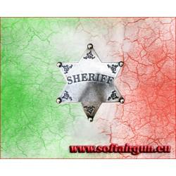 Stella da sceriffo distintivo a 6 punte in metallo Denix...