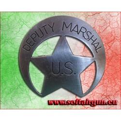 Distintivo con stella da sceriffo Us Deputy Marshal Badge...