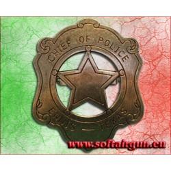 Distintivo con stella da capo della polizia sceriffo...
