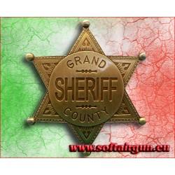 Stella da sceriffo distintivo Gran County Denix cm 6.9