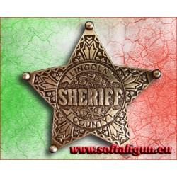 Stella da sceriffo distintivo Lincoln County Denix cm 6.5