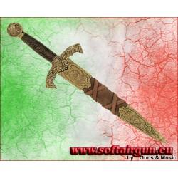Daga Pugnale di Re Artù con fodero marrone Denix 44cm